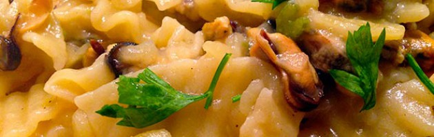 Pasta e patate con le cozze