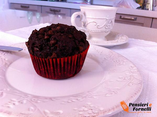 Muffin al Cacao con gocce di cioccolata