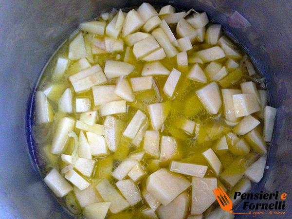 Polpette di cavolo con crema di patate