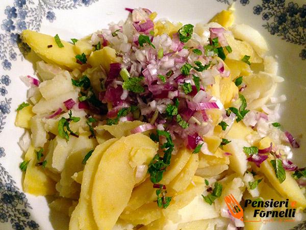 Corazza al forno con patate alla tedesca