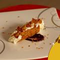 Cannolo croccante con gelato allo yogurt