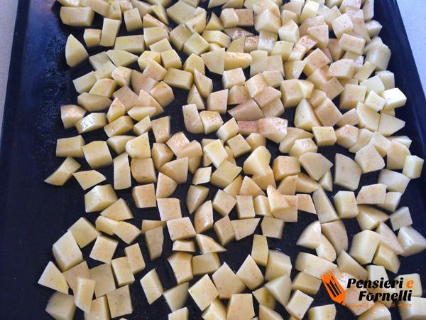 Cotoletta con patate e pesto di lattuga