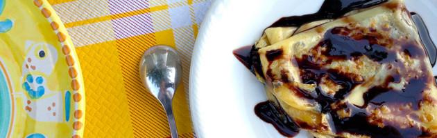 Crepes caramellate alla nutella