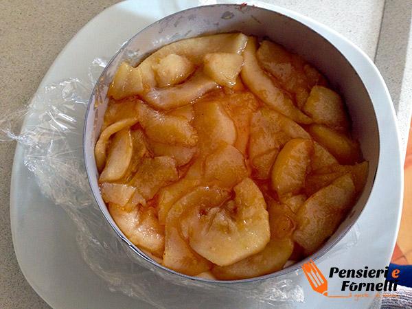 Cheese cake fredda pere e cannella