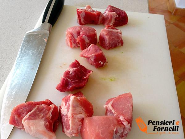 Bocconcini di maiale ai porcini