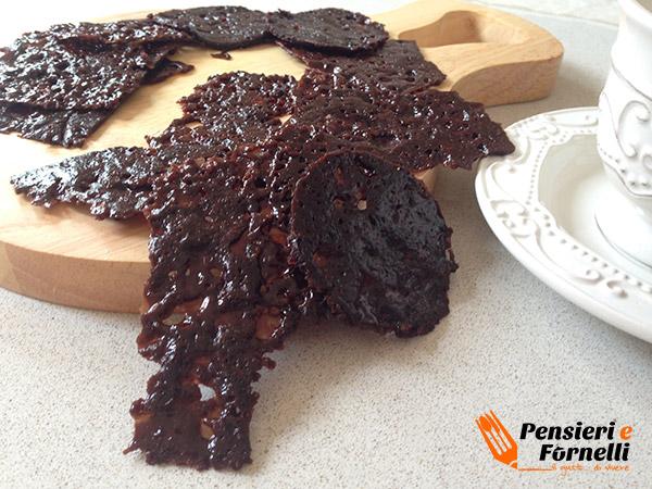 Tegole croccanti al cacao