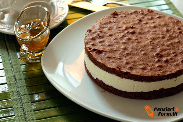 Foto finale della torta fetta al latte