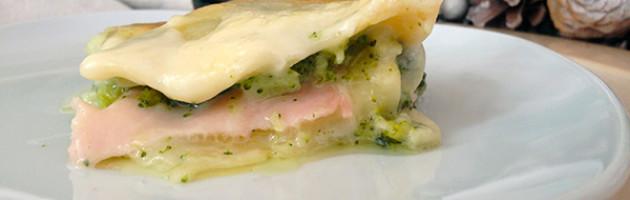 Ricetta natalizia - Lasagna con broccoli e prosciutto di Praga taggamelo