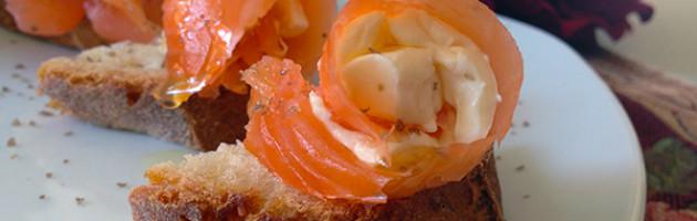 Salmone marinato con robiola al lime