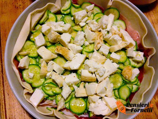 Torta rustica speck e zucchine