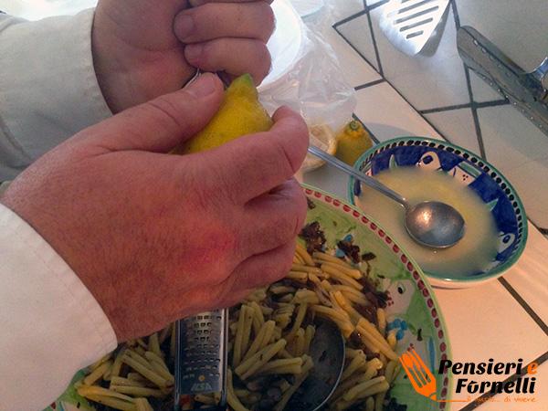 Caserecce funghi chiodini e limone