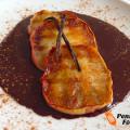 Grigliata di mele con salsa al cioccolato