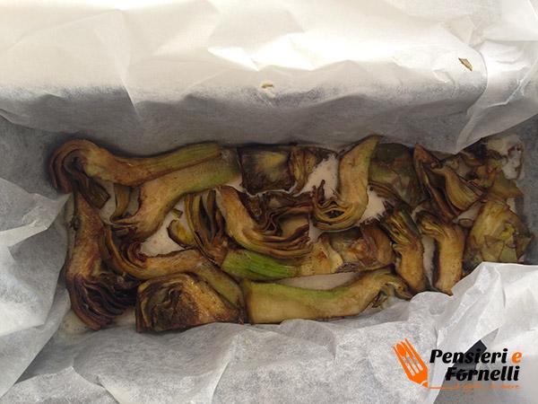 Terrina di pan carrè e carciofi