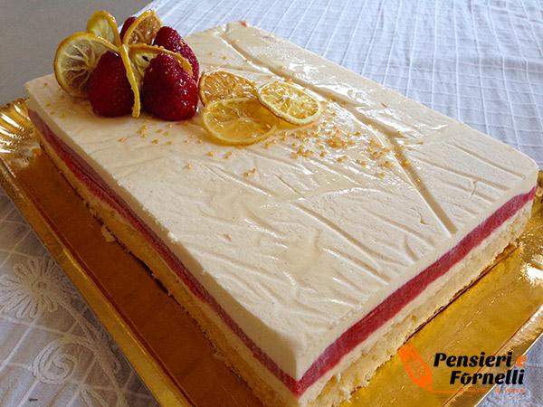 Torta fragola e limone