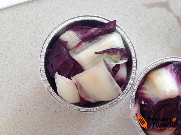 Tortino di radicchio e salsiccia con riduzione di aceto balsamico