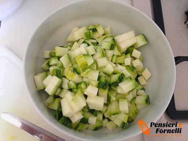 Vermicelli con cozze e crema di fiori di zucchina
