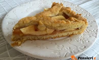 Crostata sablè mela e mandorla