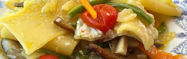 Paccheri porcini e verdure
