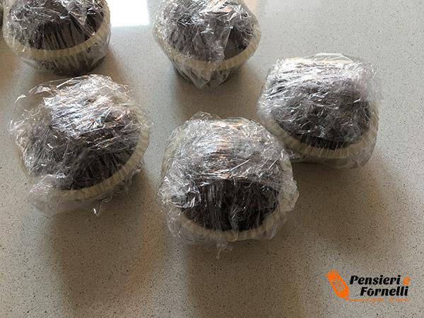 cheese muffin nella pellicola
