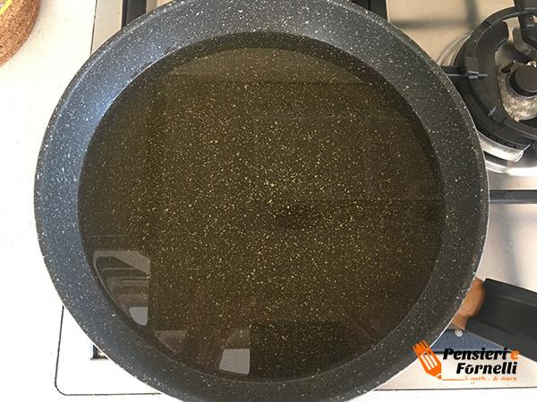 olio per friggere melanzane